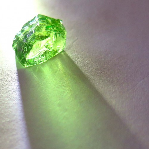 Tsavorite garnet rough gemstone