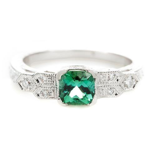 Beverly K Tourmaline Engagement Ring