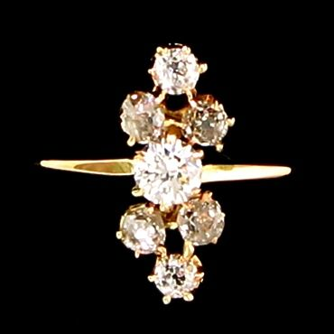 Alexandria Rossoff vintage engagement ring