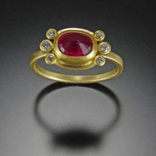 Ananda Khalsa Ruby Engagement Ring