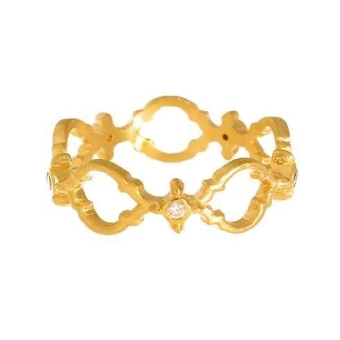 Megan Thorne lattice engagement ring