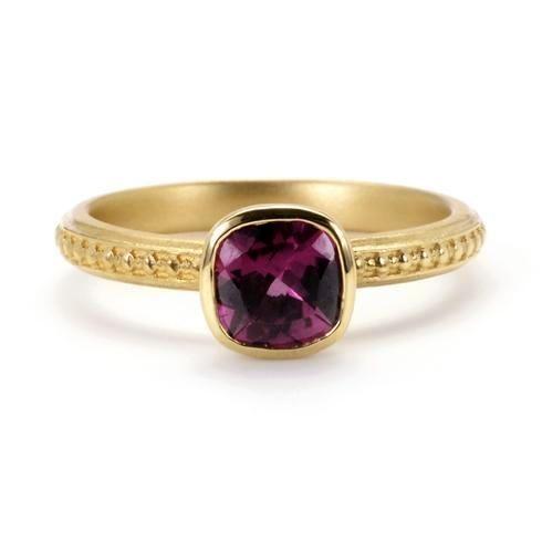 Megan Thorne Rhodolite Engagement Ring