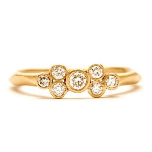 Rebecca Overmann Seven Diamond Engagement Ring