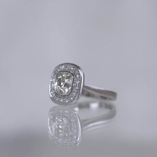 Erika Winters Designs Ava Halo Engagement Ring