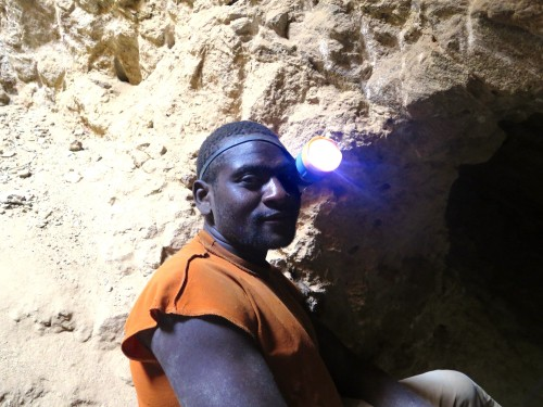 Miner in East Africa