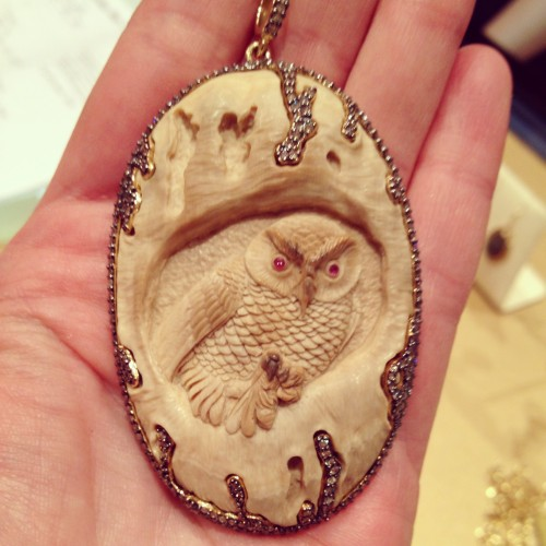 SYNA Handcarved Owl Pendant