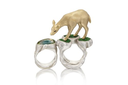 Manya and Roumen Deer RIng
