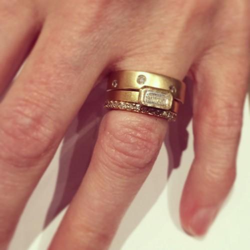 JJ personal ring stack e1418263045844 idazzle.com Jewelry Designer Spotlight: Jamie Joseph Engagement Rings