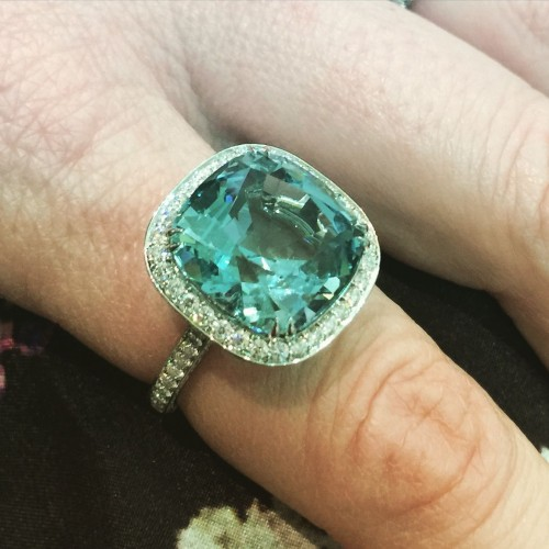 Aquamarine ring by The Rephinery