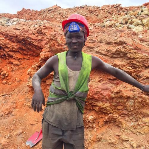 kenyan gemstone miner