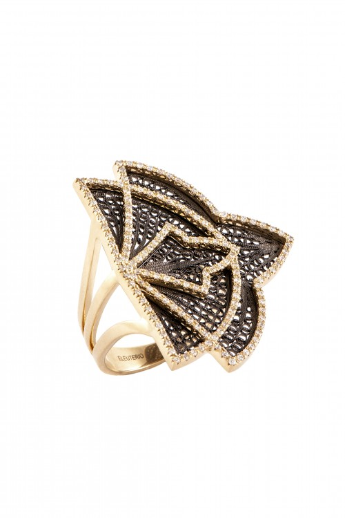 Eleuterio filigree ring