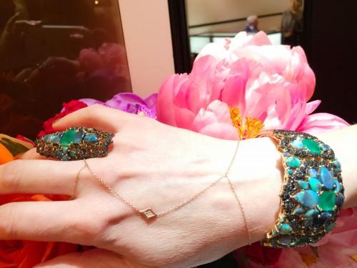 Wendy Yue Jewellery tourmaline cuff and ring