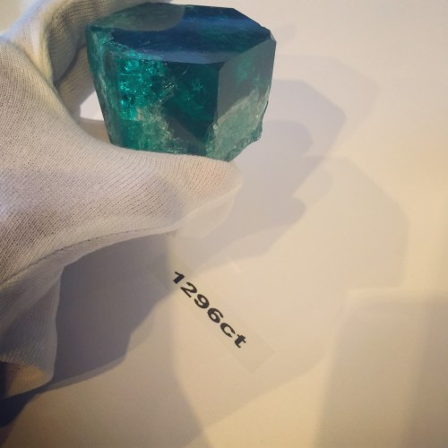 Muzo emerald hexagonal crystal